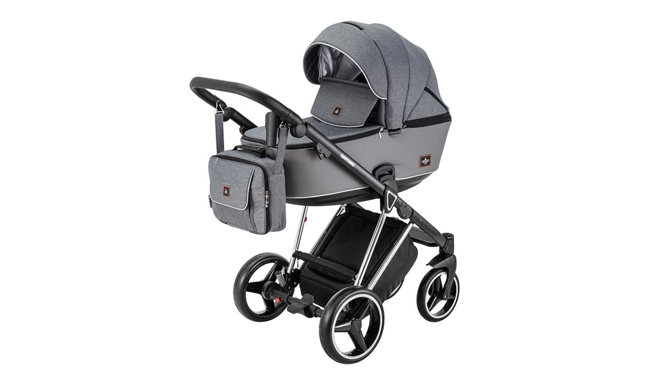 Wózek wielofunkcyjny Adamex Cristiano SE 2w1 Stalowo-szary