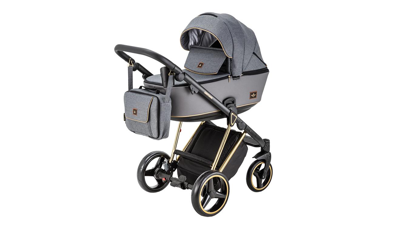 Wózek wielofunkcyjny Adamex Cristiano SE 2w1 Złoto-szary
