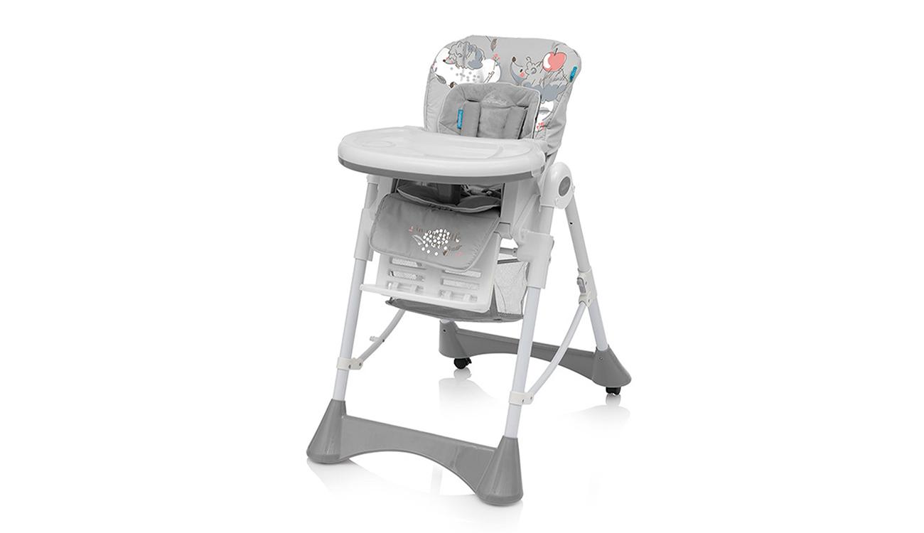 Krzesełko do karmienia Baby Design Pepe Gray