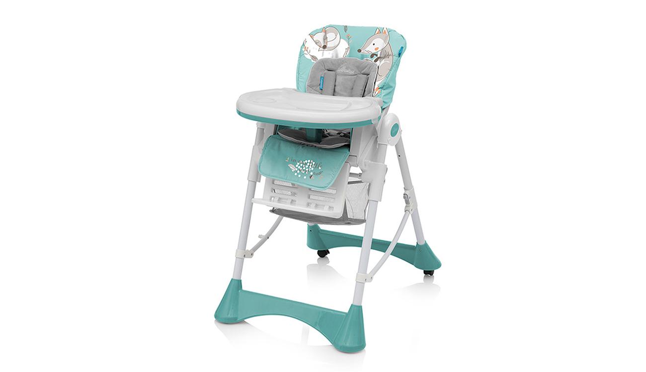 Krzesełko do karmienia Baby Design Pepe Turquoise