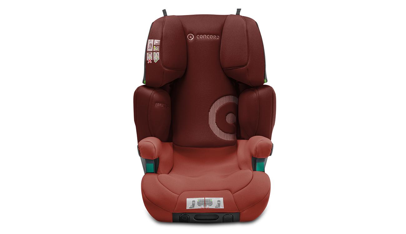 Wzmocnienia w foteliku samochodowym15-36 kg Concord Transformer iPlus i-Size Grape Red