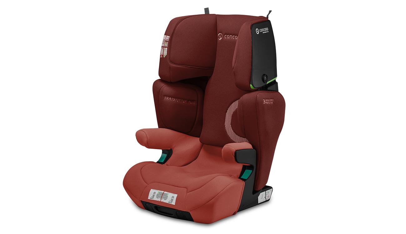Kolorystyka fotelika samochodowego 15-36 kg Concord Transformer iPlus i-Size Grape Red