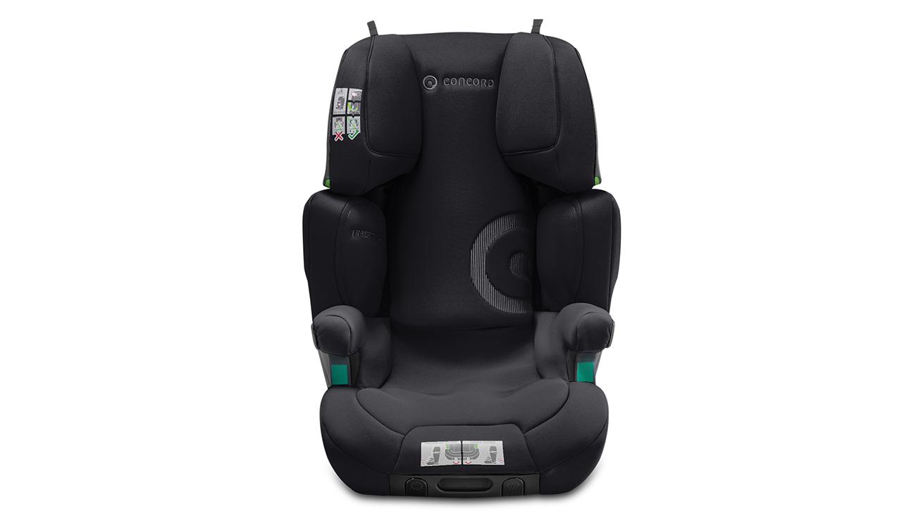 Wzmocniona konstrukcja fotelika samochodowego15-36 kg Concord Transformer iPlus i-Size Soft Black
