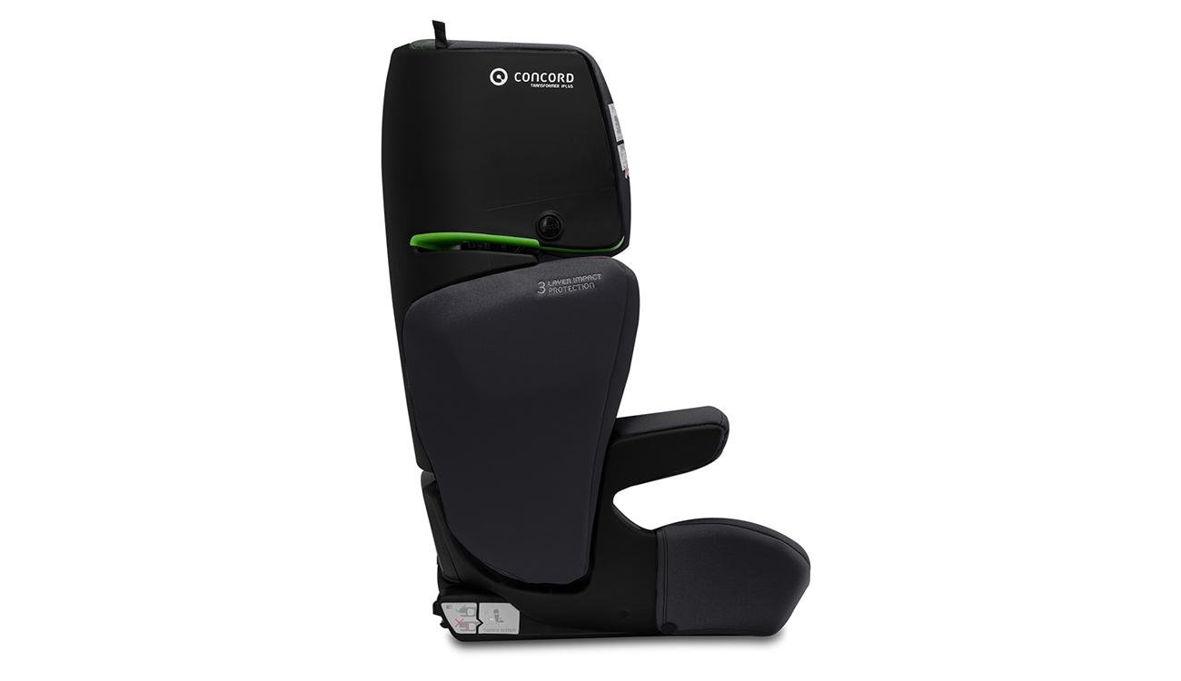 Kolorystyka fotelika samochodowego 15-36 kg Concord Transformer iPlus i-Size Soft Black