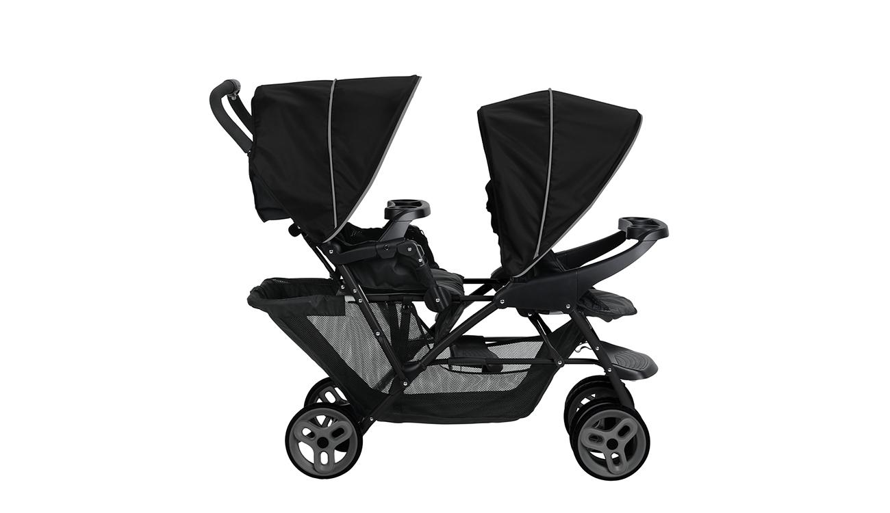 Wózek spacerowy Graco Stadium Duo Black Grey
