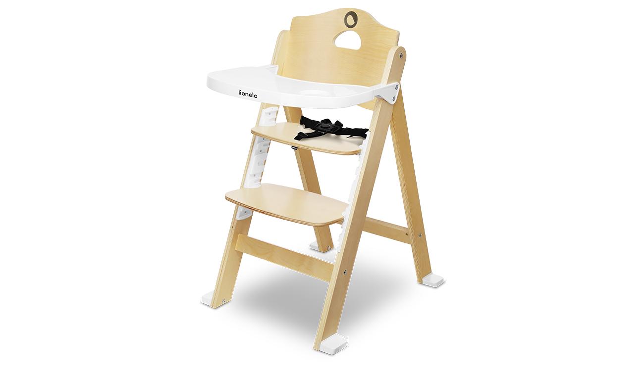 Krzesełko do karmienia Lionelo Floris Natural White