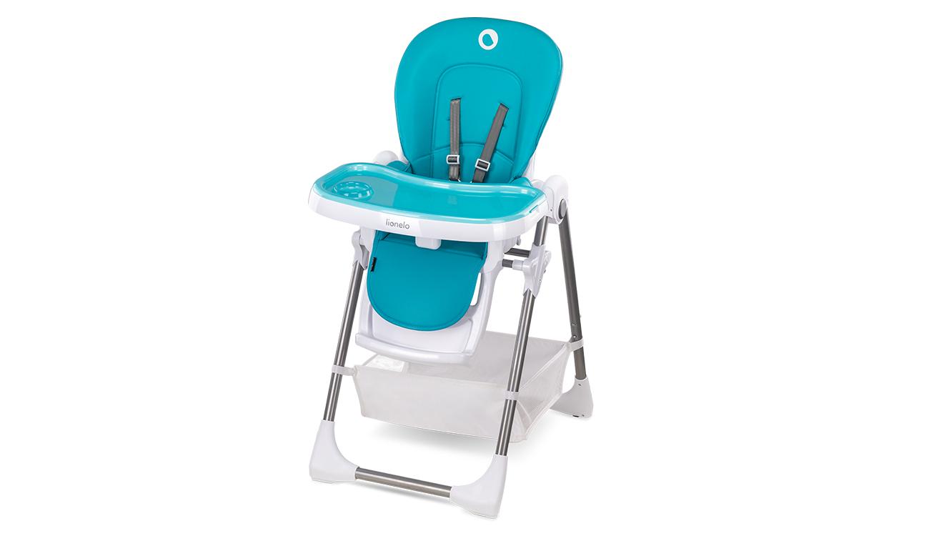 Krzesełko do karmienia Lionelo Linn Plus Turquoise