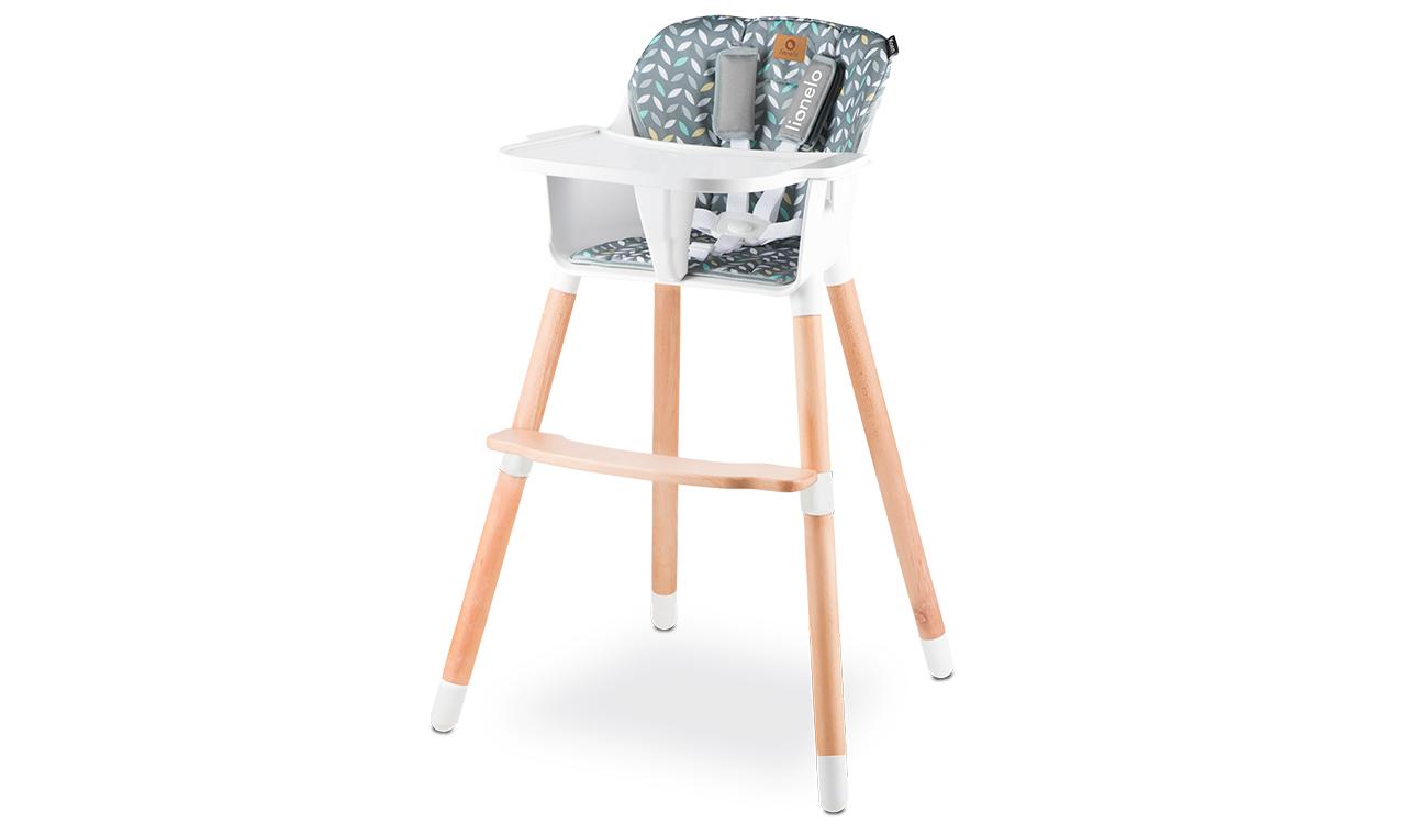 Krzesełko drewniane do karmienia Koen Yellow