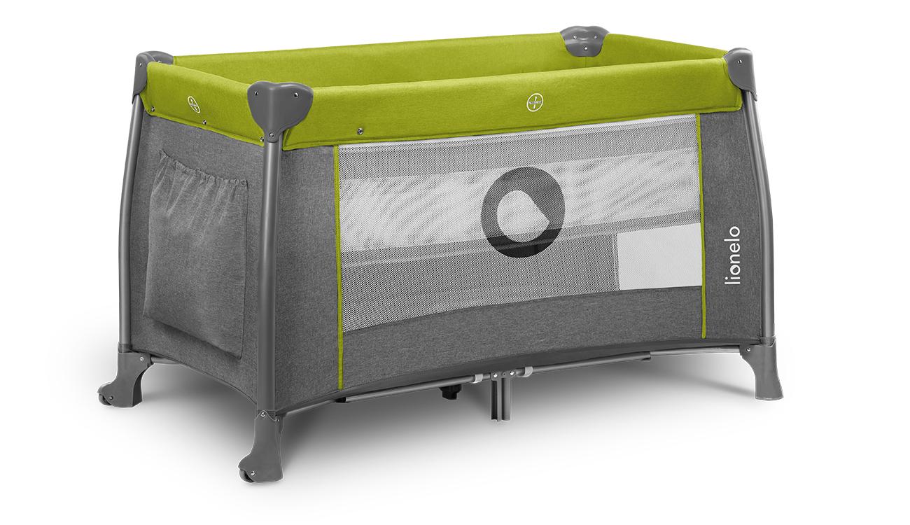 Łóżeczko turystyczne dwupoziomowe Lionelo Thomi Green Lemon