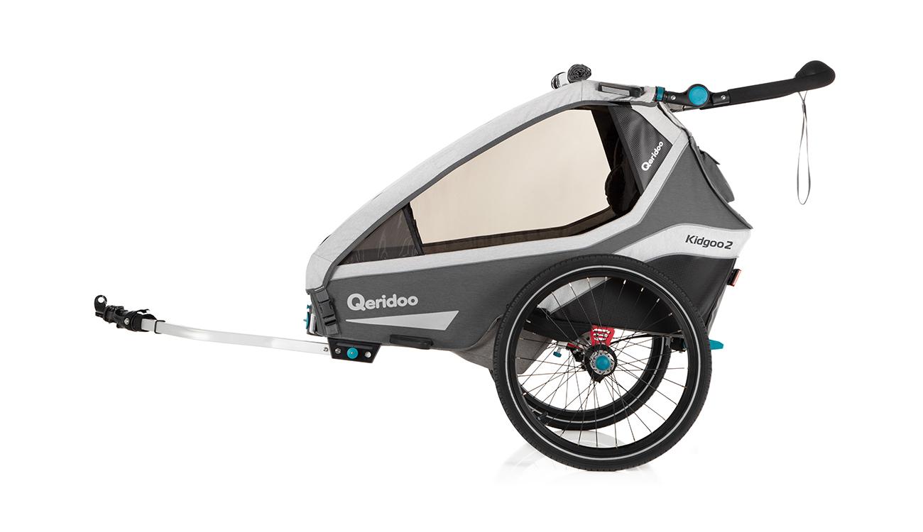 Przyczepka rowerowa Qeridoo Kidgoo2 2020 Grey z dyszlem