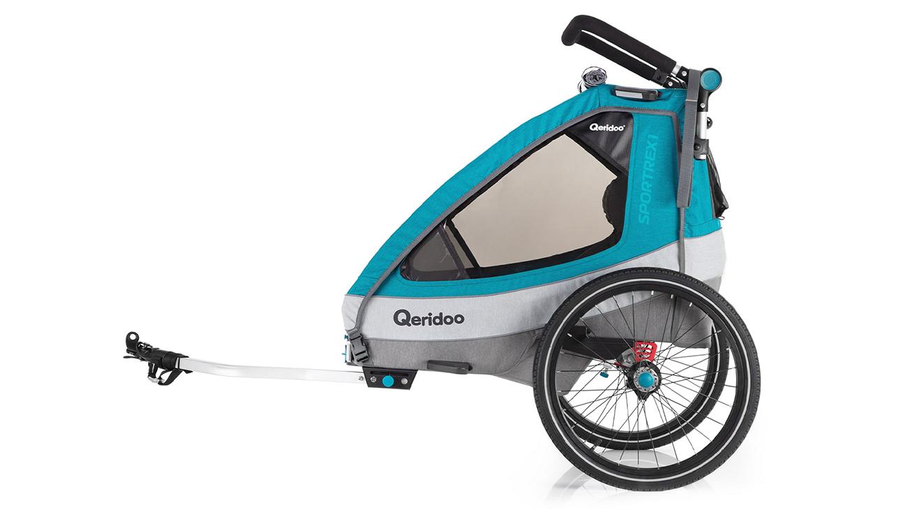 Przyczepka rowerowa Qeridoo Sportrex1 2020 Petrol z dyszlem